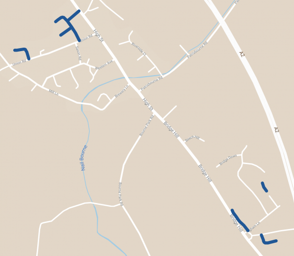 Bin collection route map