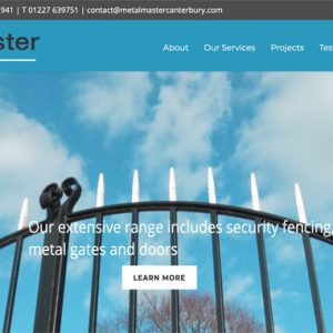 WordPress Website MetalMaster Canterbury