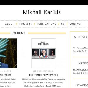 WordPress Website Mikhail Karikis